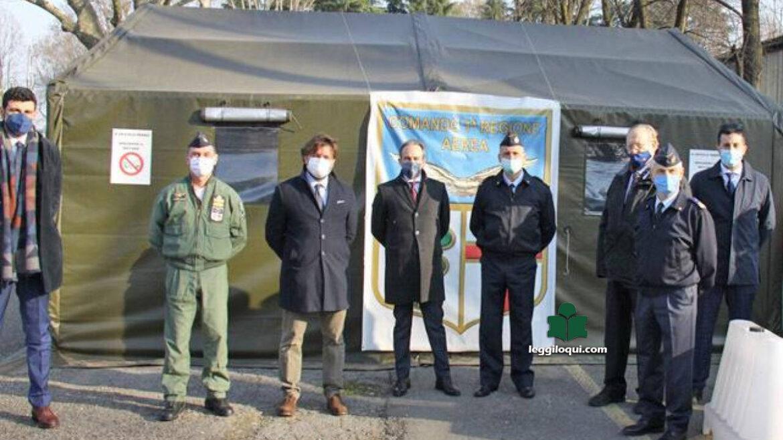 Linate: il centro vaccinale affidato all'Aeronautica Militare