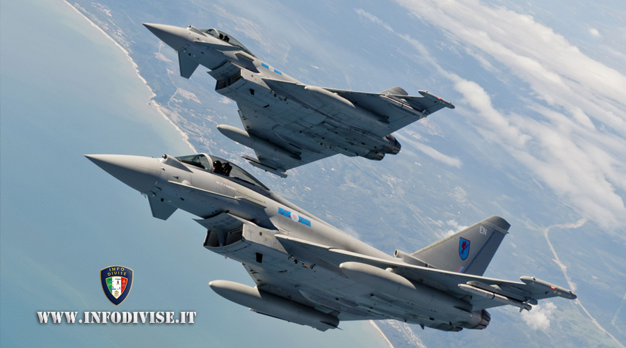 Aeronautica Militare: decollo su allarme per due caccia Typhoon