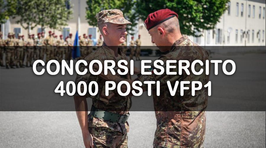 Esercito: VFP1, pubblicato bando per 4000 posti