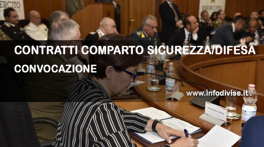 Comparto Sicurezza/Difesa – Convocazione riunione tecnica per la prosecuzione delle procedure negoziali.