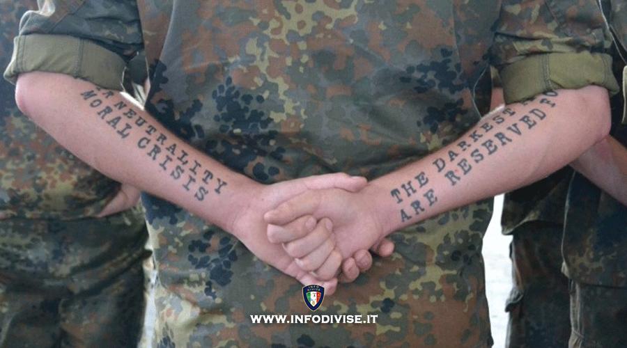 Concorsi forze armate e tatuaggi: quali sono quelli che causano l'esclusione dai concorsi?
