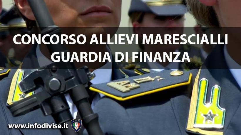 Concorsi: bando per 1030 Allievi Marescialli della Guardia di Finanza