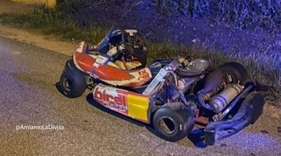 Fuga in go-kart dalle Forze dell'Ordine in piena notte- Video