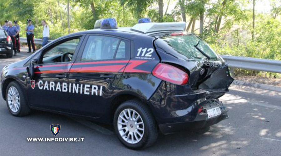 Evade dai domiciliari ma tampona l'auto di un carabiniere! In cella
