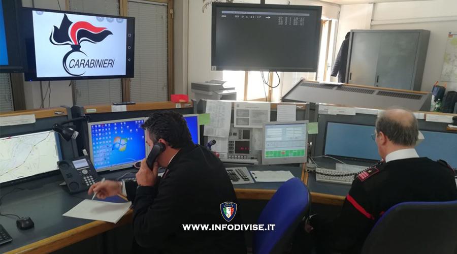 Carabinieri assistono a videochiamata di minacce: 23enne arrestato in flagrante