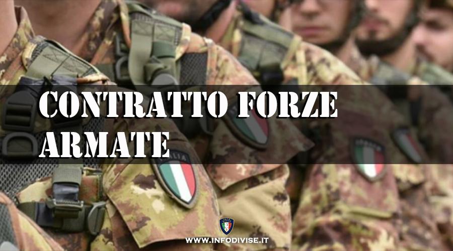 """Forze Armate: """"Contratto in arrivo. Stanziati 50 milioni in bilancio"""""""
