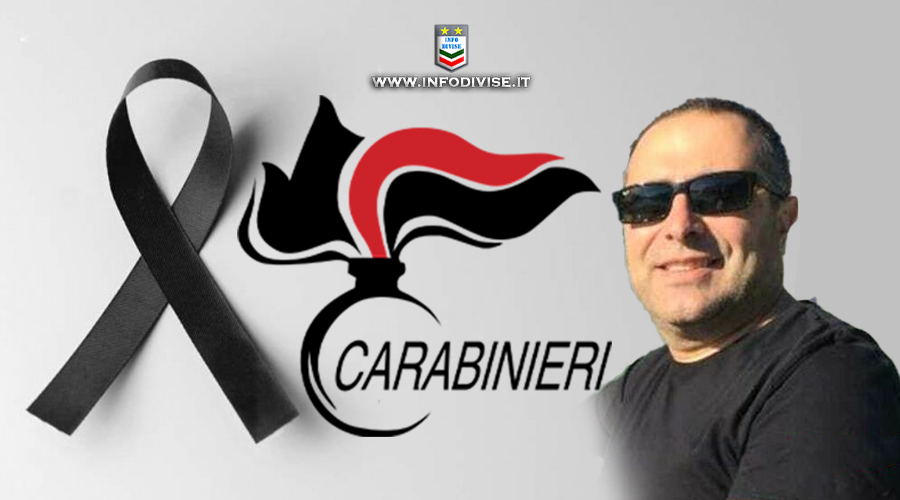 Lutto nell'Arma: scompare il maresciallo dei Carabinieri Fabrizio Memmolo