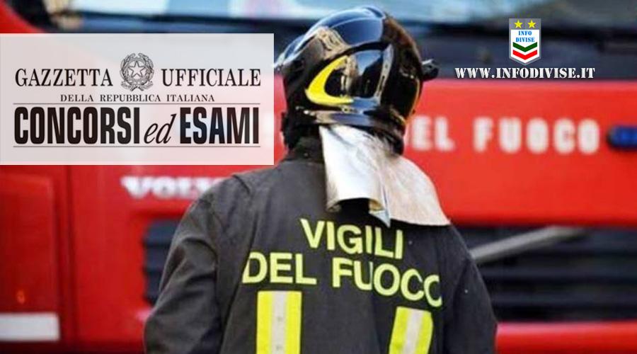 Vigili del Fuoco: concorso per 314 ispettori antincendi