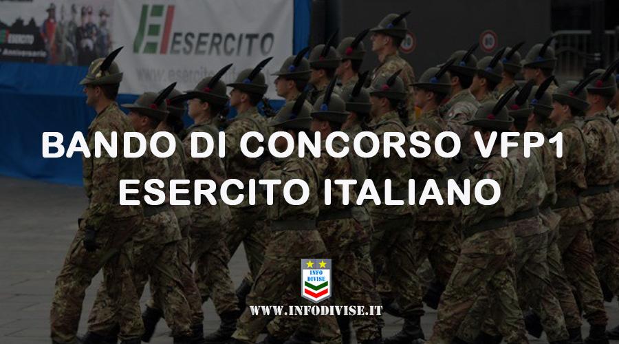 Esercito Italiano: nuovo bando per il reclutamento di 4.000 VFP 1