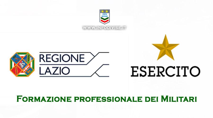 Formazione professionale dei militari, firmato protocollo tra Esercito e Regione Lazio