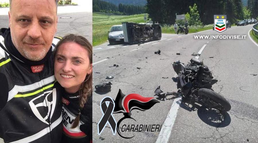 Tragico incidente in moto: muore il Maresciallo CC Valerio Caridi, grave la compagna