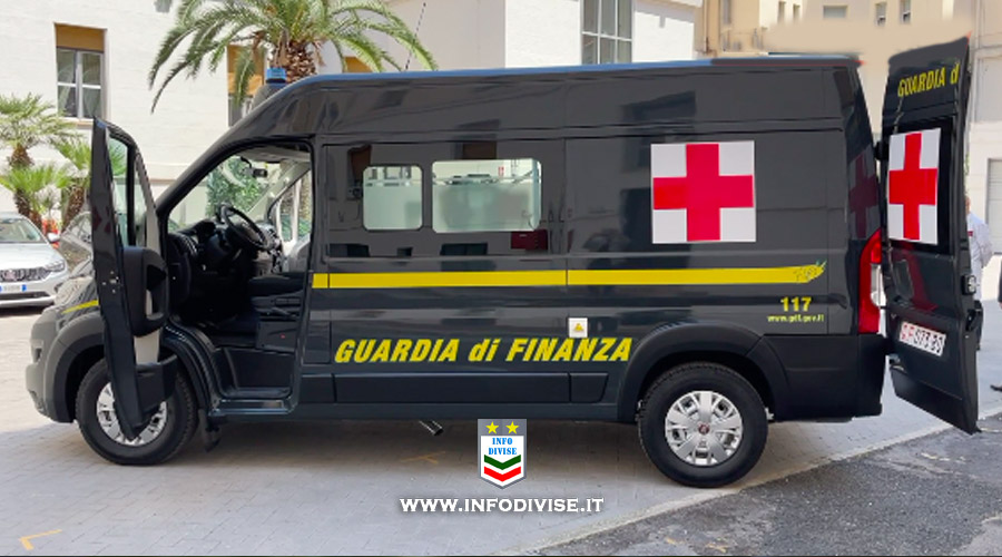 Guardia di Finanza: attiva l'ambulanza a disposizione di tutto il territorio pugliese