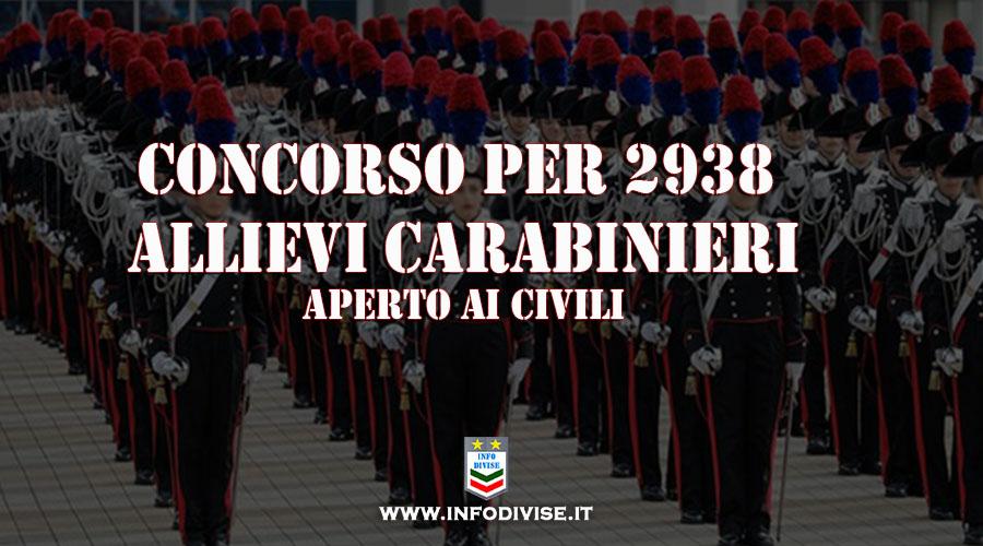 Concorsi: pubblicato il bando per 2.938 Allievi Carabinieri