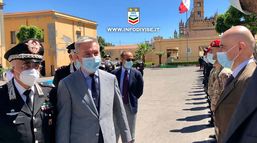 """""""Dai Carabinieri durissimi colpi alla mafia"""". Il Ministro della Difesa Guerini in visita istituzionale a Palermo"""