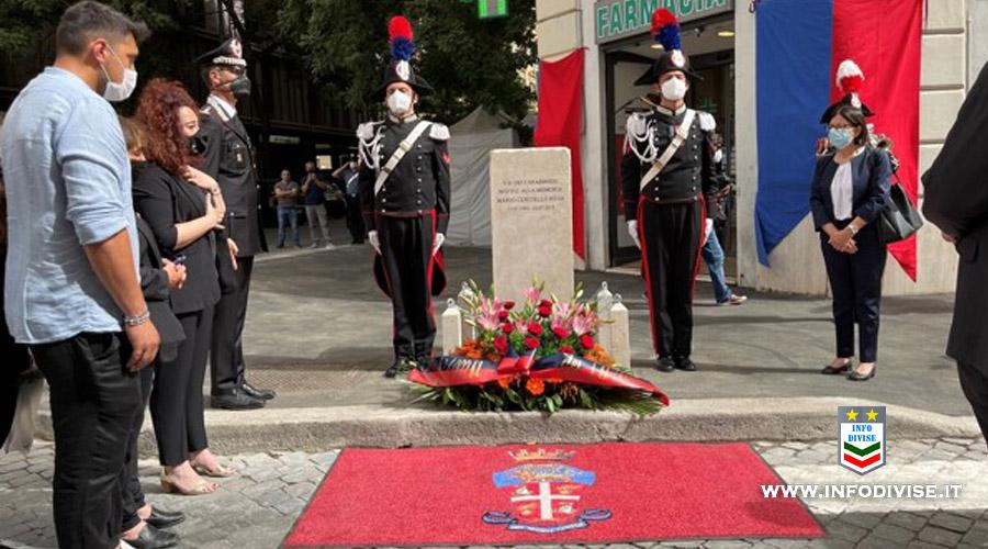 Mario Cerciello Rega: una stele nel giorno del compleanno del Carabiniere ucciso a Prati