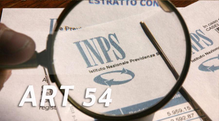Pensioni: Articolo 54 del d.P.R. n. 1092 del 1973. Sentenza delle Sezioni Riunite della Corte dei Conti