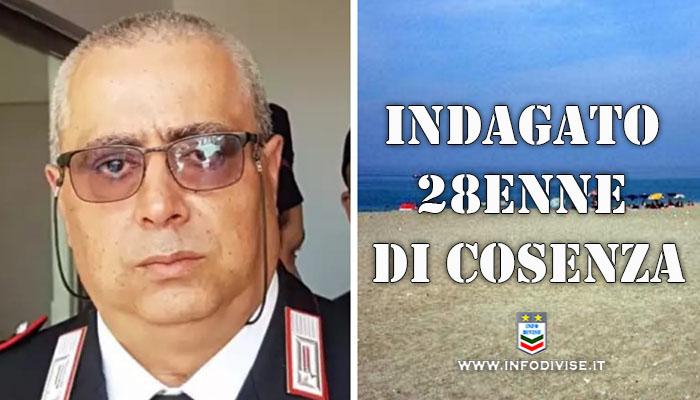 Carabiniere morto dopo lite sulla spiaggia a Paola, indagato un 28enne di Cosenza