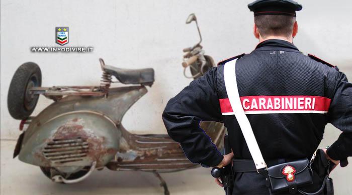 Carabinieri ritrovano una Vespa d'epoca… rubata 41 anni fa!