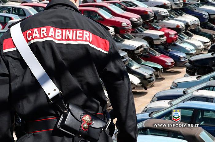 Risultava proprietario di 145 auto: i Carabinieri gli contestano 78.800 € di multe e lo denunciano