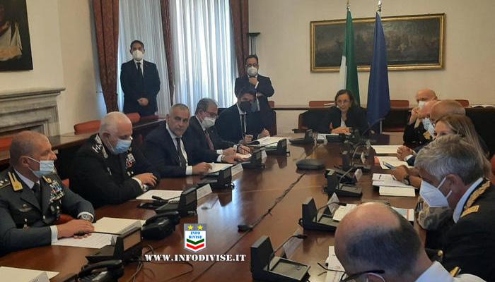 Lamorgese a Palermo per il Comitato nazionale per l'ordine e la sicurezza pubblica