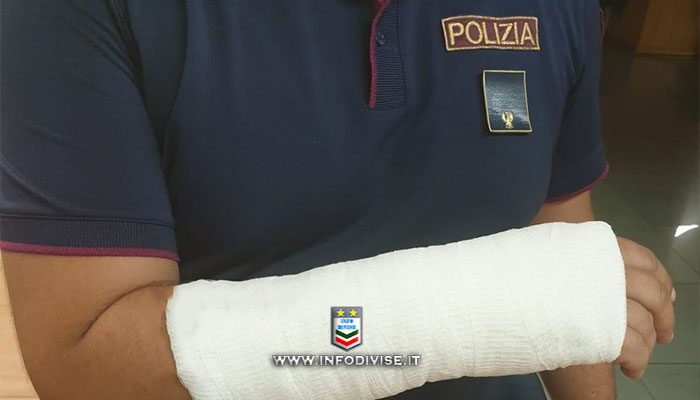 Ubriaco frattura la mano ad un poliziotto, arresti domiciliari per un 50enne