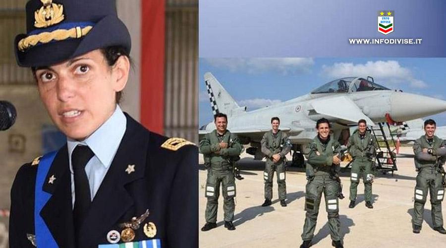 Ilaria Ragona, la prima donna al comando del Gruppo Caccia Aeronautica Militare di Trapani