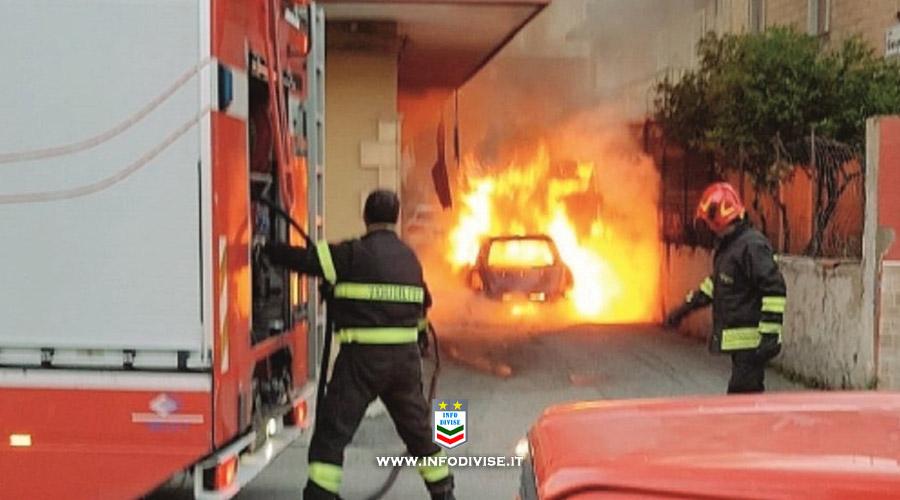 Termini Imerese: incendiata l'auto di un Maresciallo dei Carabinieri