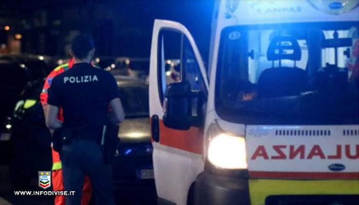 Brescia ventenne aggredisce un anziano, scappa dalla polizia e viene investito da un furgone: è grave