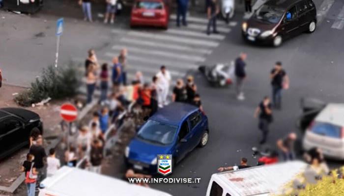 Roma: scippa una donna, fugge su scooter rubato e investe tre poliziotti