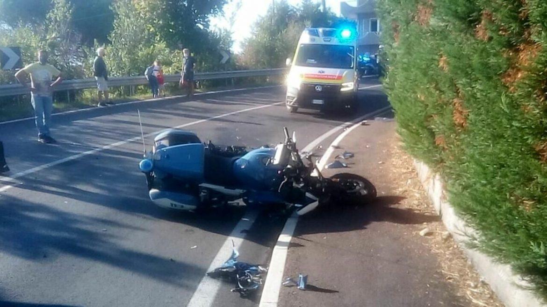 Poliziotto in scorta al Gran Premio Nuvolari travolto in moto da un camion